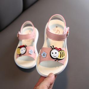Sandale roz pudra pentru fetite - Albinuta