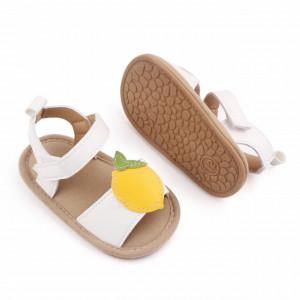 Sandalute albe pentru fetite - Lamaita