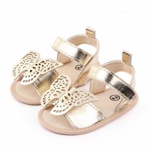 Sandalute aurii pentru fetite - Fluturasul dantelat
