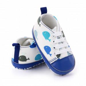 Tenisi albi pentru bebelusi - Balenute