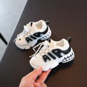 Adidasi albi cu insertie neagra - Air
