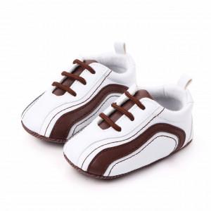 Adidasi bebelusi albi cu maro