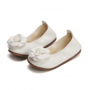 Balerini albi pentru fetite - Trandafiras