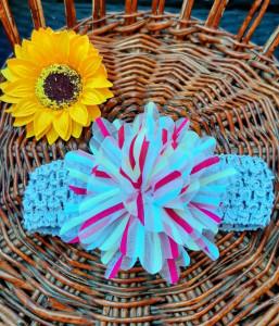 Bentita gri pentru fetite - Floare multicolora