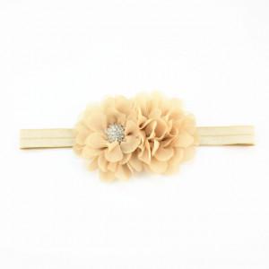 Bentita pentru fetite - Doua floricele cu strasuri