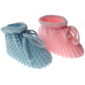 Botosei crosetati cu model pentru bebelusi