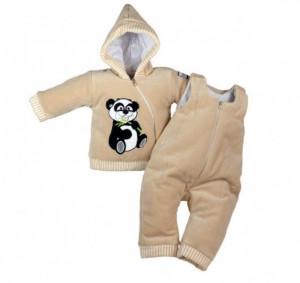 Compleu bebelusi crem - Panda