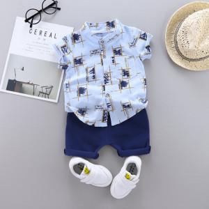 Costum bebelusi cu camasuta bleu