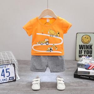 Costum bebelusi cu tricou portocaliu - Cars