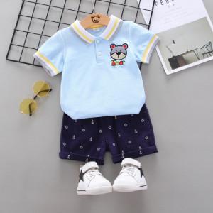 Costum cu tricou bleu - Bear