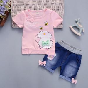Costumas fetite cu tricou - Oita