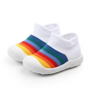 Mocasini tip adidas albi - Curcubeu