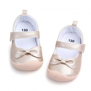 Pantofi fetite sidefati cu fundita