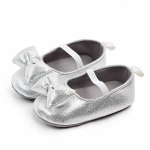 Pantofiori argintiu sidefat pentru fetite