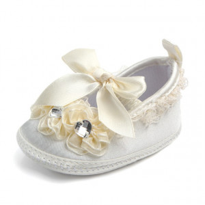 Pantofiori botez fetite ivoire