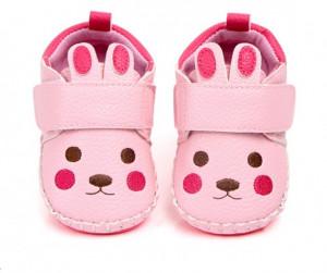 Pantofiori fetite - Iepurasul roz