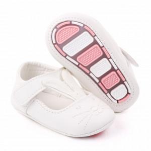 Pantofiori fetite - White bunny