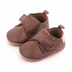 Pantofiori maro cu bareta cu arici