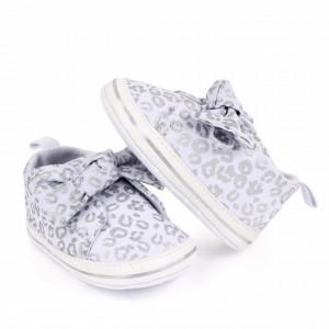 Pantofiori pentru fetite - Leopardul argintiu