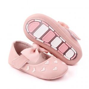 Pantofiori roz cu inimioare