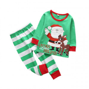 Pijama bebelusi - Santa's little helper