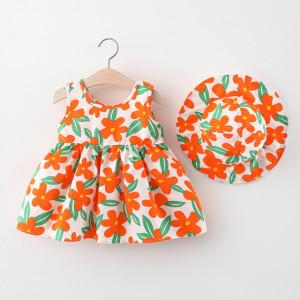 Rochita cu palarie - Floricele portocalii