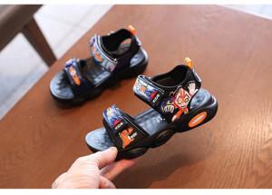 Sandale negre cu portocaliu - Super erou