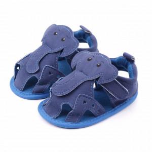 Sandalute albastre pentru baietei - Elefantelul