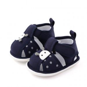 Sandalute bleumarine pentru fetite - Buburuza