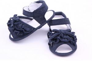 Sandalute fetite bleumarin din blugi