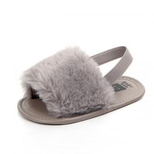 Sandalute fetite gri - Pufosila
