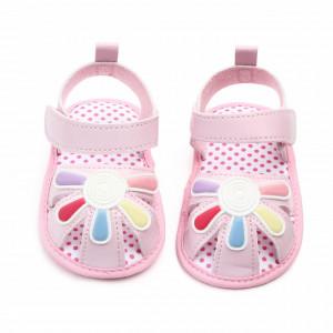 Sandalute fetite roz - Floricica curcubeu