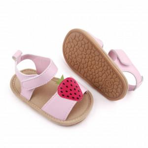 Sandalute roz pentru fetite - Capsunica