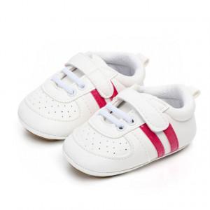 Adidasi bebelusi cu dungi roz ciclamen