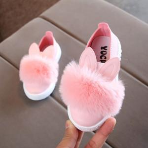 Balerini roz pentru fetite - Pufi