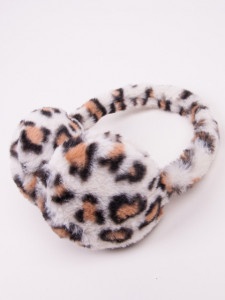 Bentita cu protectie pentru urechi - Animal Print Ivory