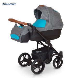 Carucior 3 in 1 model Tripp Grey Turqoise