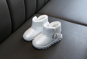 Cizme argintii pentru fetite