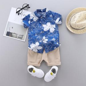Costum bebelusi cu pantalonasi si camasuta - Hawaii