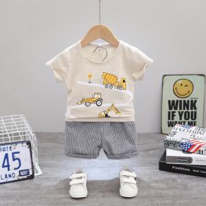 Costum bebelusi cu tricou gri - Cars