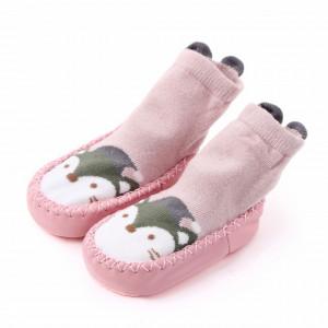 Mocasini roz pentru fetite - Vulpita