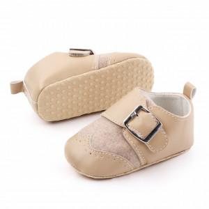 Pantofi eleganti crem cu catarama