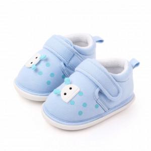 Pantofiori bleu pentru baietei - Buburuza