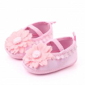 Pantofiori botez fetite - Margareta roz