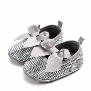 Pantofiori de ocazie cu strasuri argintii