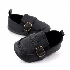 Pantofiori eleganti negri pentru baietei