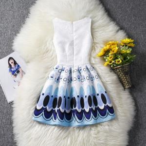 Rochie fetite alba cu cercuri