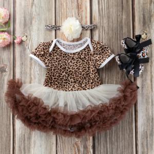 Rochita body fustita tutu - Leopard