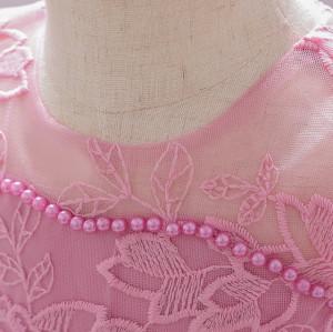 Rochita eleganta roz pudra cu trena