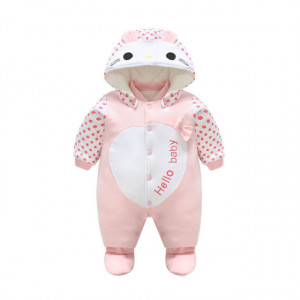 Salopeta captusita pentru fetite - Hello baby